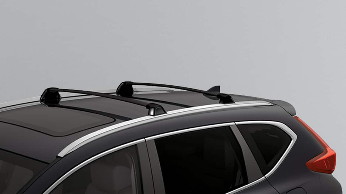 2019 Honda CR-V shown with Honda Genuine Accessory roof rails and crossbars.